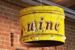 Barrel wine sign