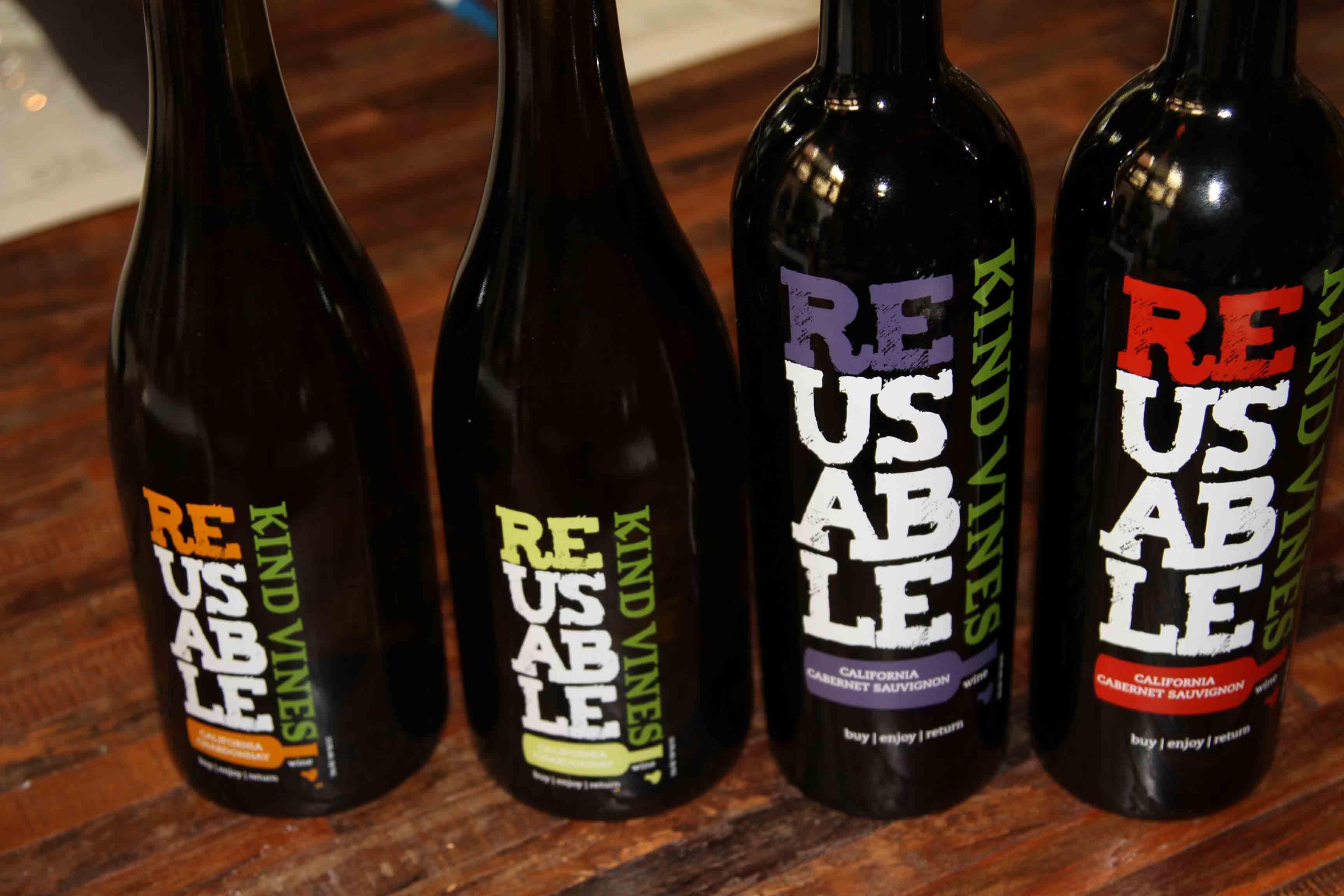 recyclable wine bottle