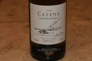 Catena Chardonnay wine bottle