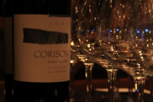 wine bottle wine glasses