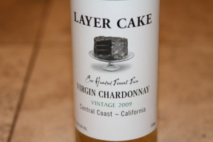 Virgin Chardonnay label Layer Cake