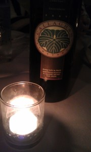 wine bottle with candle