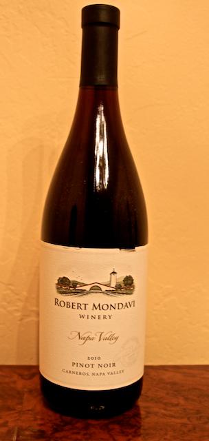 Wine Review | Robert Mondavi 2010 Pinot Noir  |  Carneros