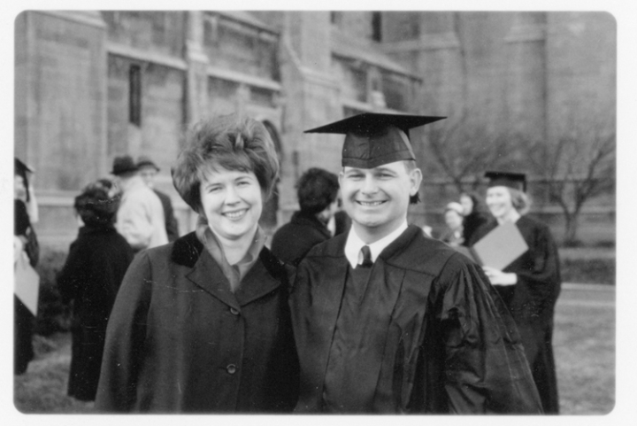 Graduating from the University of Chicago, 1966