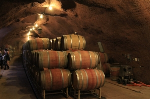 Inside the wine cave