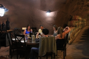 Tasting table in the cave