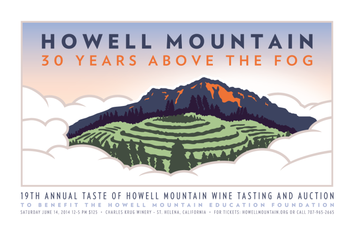 taste of howell mountain 2014 poster