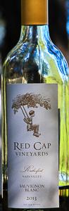 red cap 2013 sauvignon blanc bottle