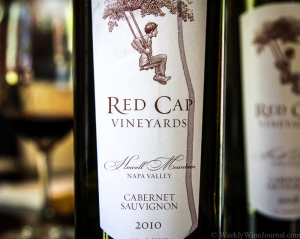 red cap 2010 cabernet bottle