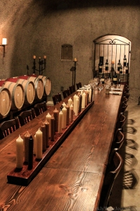 Private tasting room in the cave system