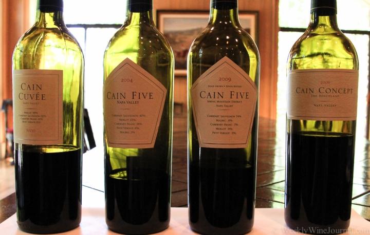 cain wine bottles
