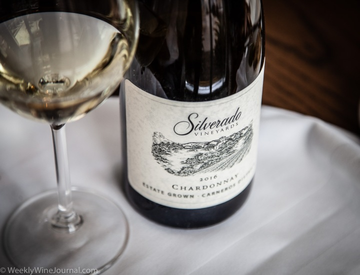 Silverado vineyards chardonnay wine bottle